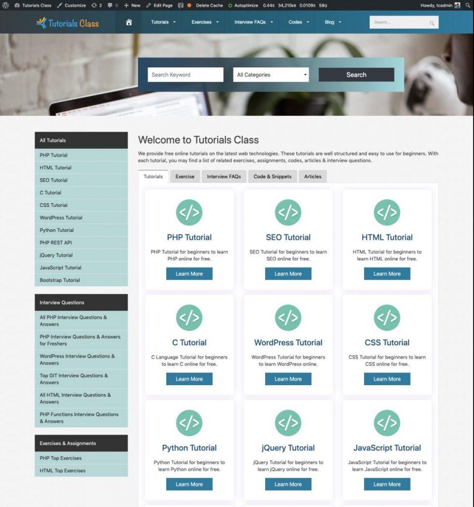 Tutorials Class Portal
